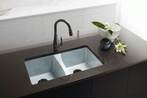 Кухонная эмалированная раковина