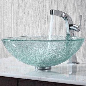 Стеклянная раковина-чаша