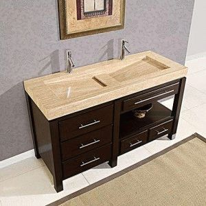 What is a vanity in a bathroom