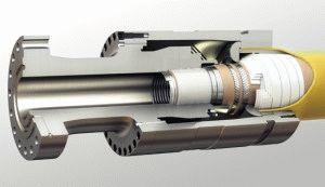 Крепление трубы к фитингу в разрезе