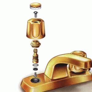 Устройство двухвентильного смесителя для ванны