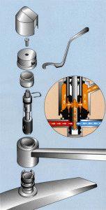 Конструкция ванного смесителя