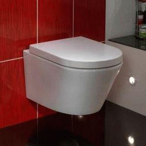 Подвесной унитаз в туалете