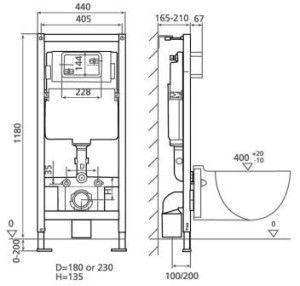 Конструкция подвесного унитаза