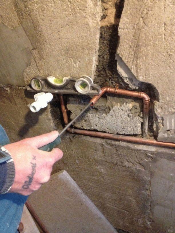 Монтаж смесителя в стену