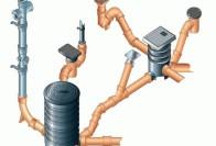Виды фасонных частей для канализационных труб и их установка