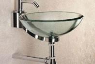 Стеклянная чаша-раковина в ванную, или как придать свежести интерьеру