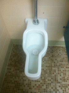 Женский писсуар в туалете