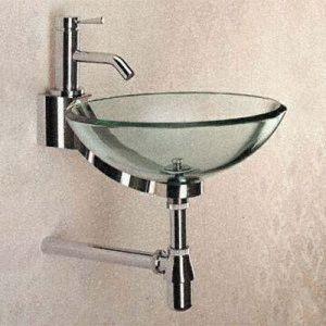 Раковина из стекла в ванную