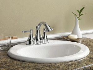 Стандартная раковина для ванной