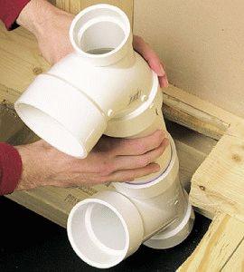 Установка канализационной трубы