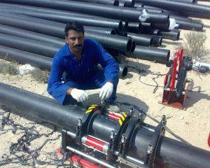 Прокладка промышленного трубопровода
