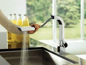 Выдвижной душ кухонного смесителя