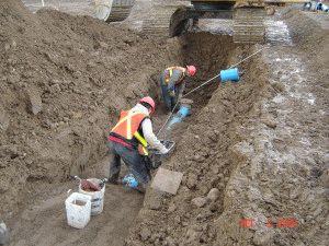 Укладка водопровода к дому