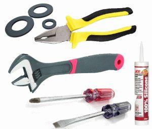 Инструменты для ремонта унитаза