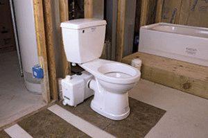 Унитаз с канализационным насосом