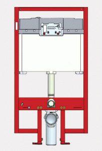 Инсталляция для установки подвесного унитаза