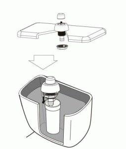 Конструкция бачка унитаза с кнопкой