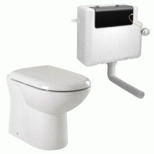 Отдельный туалетный бачок и унитаз