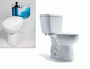Принцип слива воды в унитазе