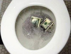 С протечкой унитаза утекают ваши деньги