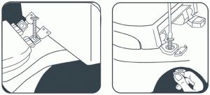 Схема крепления крышки-сиденья унитаза