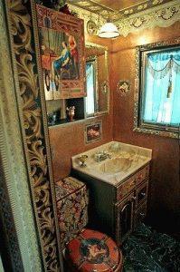 Ванная комната в стиле декупаж