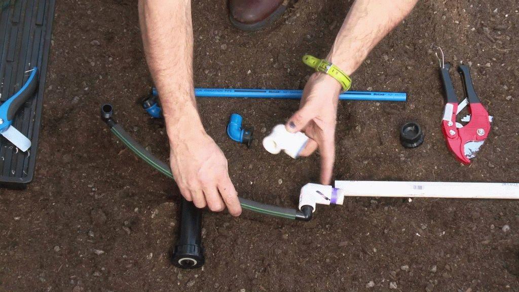 Сборка труб с фитингом