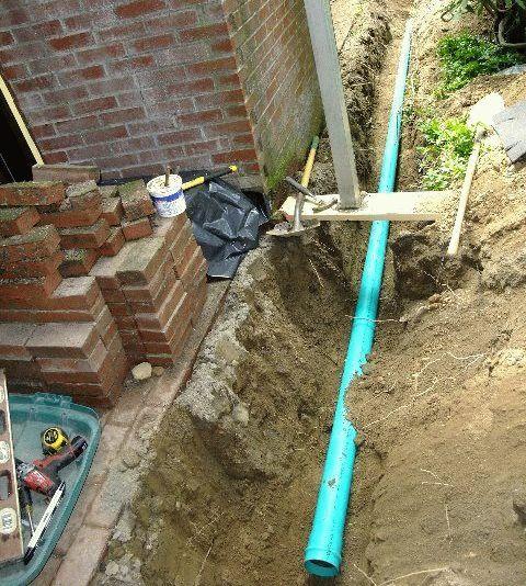Укладка трубы под землю