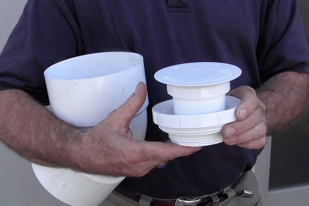 Установка клапана на трубу