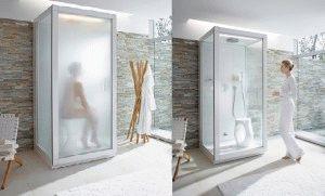 Турецкая баня в душевой кабинке
