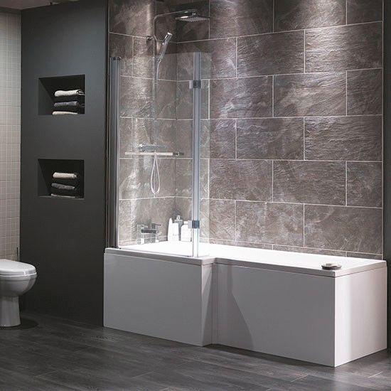 Прямоугольная ванна-душ