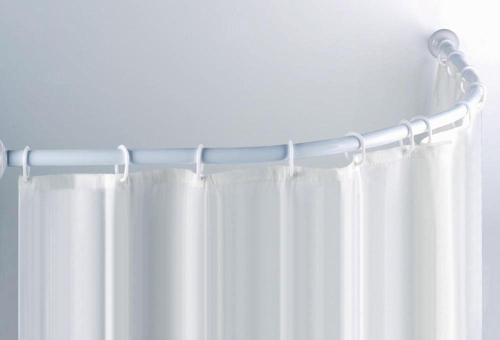 Полиэтиленовая шторка на круглый душ