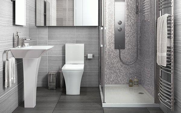 Дизайн квадратного санузла с душем